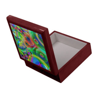 Retro Psychedelic Abstract Large Square Gift Box