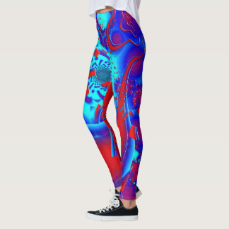 Retro Psychedelic Crazyness Leggings