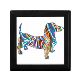 Retro Psychedelic Dachshund Jewelry Boxes