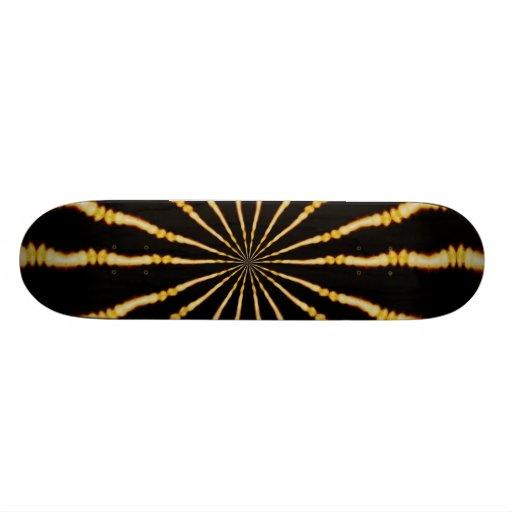 Retro Psychedelic Electric Swirl Skate Board Deck