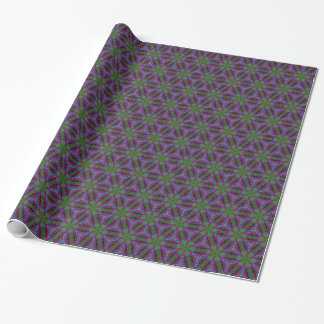 Retro psychedelic kaleidoscope wrapping paper