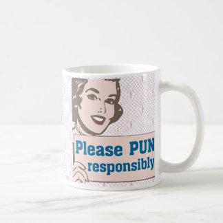 Retro Pun Responsibly Coffee Mug