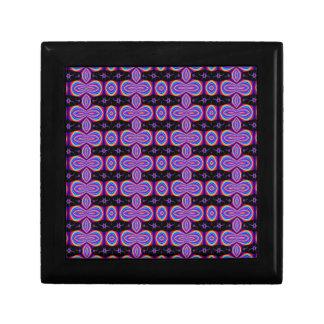 retro purple black pattern keepsake box