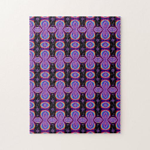 retro purple black pattern puzzles