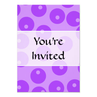 Retro Purple Circles Pattern. 13 Cm X 18 Cm Invitation Card