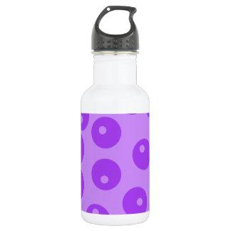 Retro Purple Circles Pattern. 532 Ml Water Bottle