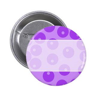 Retro Purple Circles Pattern Buttons