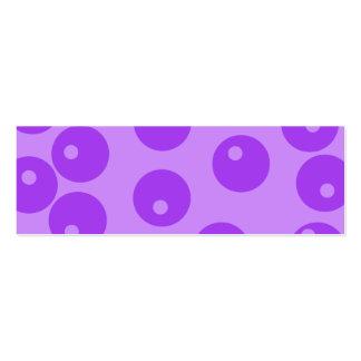 Retro Purple Circles Pattern. Business Card