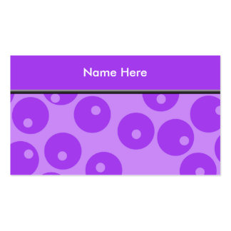 Retro Purple Circles Pattern. Business Card Template