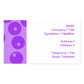 Retro Purple Circles Pattern. Business Cards