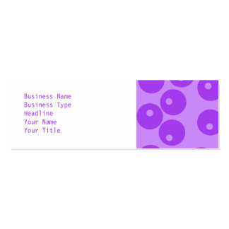 Retro Purple Circles Pattern. Pack Of Skinny Business Cards