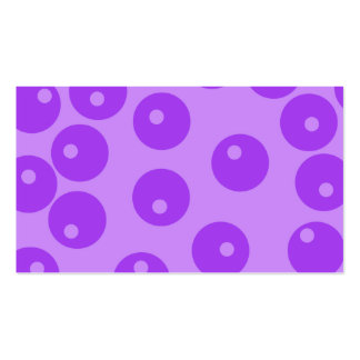 Retro Purple Circles Pattern. Business Card Templates