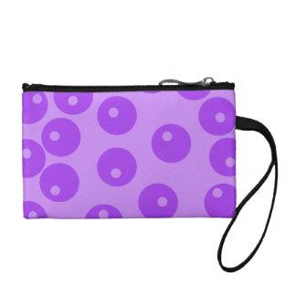 Retro Purple Circles Pattern. Coin Purse