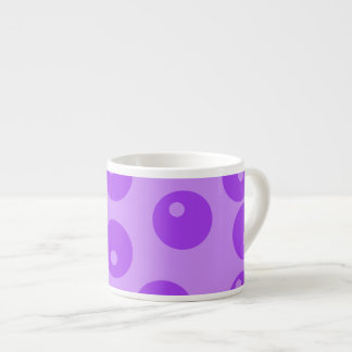 Retro Purple Circles Pattern. Espresso Mug