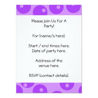 Retro Purple Circles Pattern. Personalized Invitation