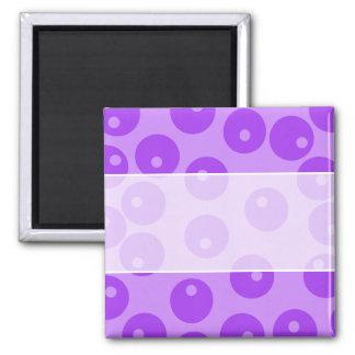 Retro Purple Circles Pattern. Refrigerator Magnet