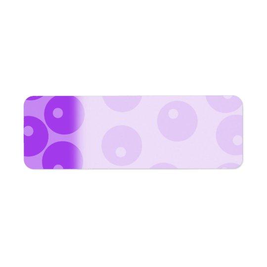 Retro Purple Circles Pattern. Return Address Label
