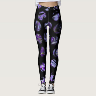 Retro Purple Dots Leggings