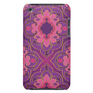 Retro,purple,hot pink, gold,floral,vintage,trendy, barely there iPod covers