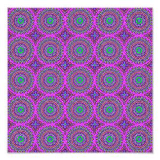 Retro Purple Pattern Fractal Art Photo Print