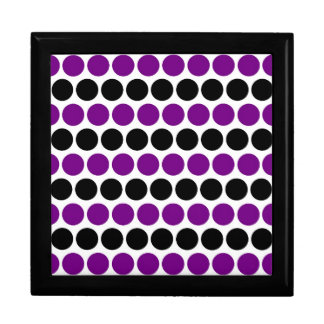 Retro Purple Polka Dot Pattern Jewelry Boxes