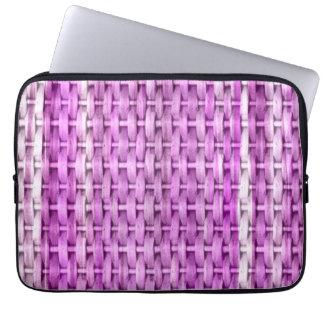 Retro purple wicker art graphic design laptop computer sleeve