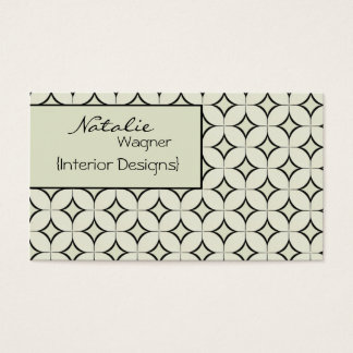 Retro Radiance Business Card, Ivory Business Card