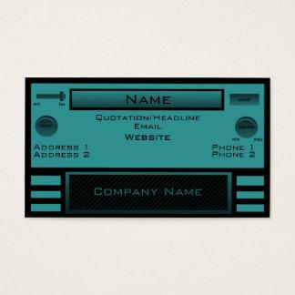Retro Radio Business Card, Teal Business Card
