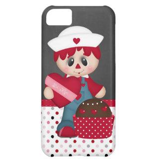 Retro Raggedy Doll Heart Valentine iPhone 5C Covers
