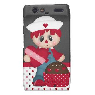 Retro Raggedy Doll Heart Valentine Droid RAZR Case