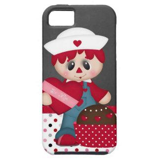 Retro Raggedy Doll Heart Valentine iPhone 5 Cover