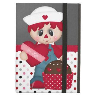 Retro Raggedy Doll Heart Valentine iPad Air Case