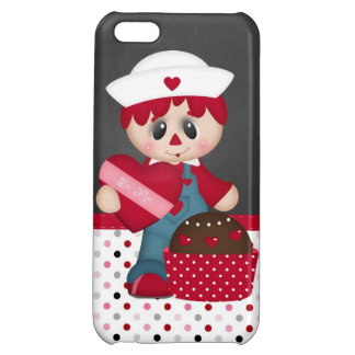 Retro Raggedy Doll Heart Valentine Cover For iPhone 5C