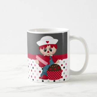 Retro Raggedy Doll Heart Valentine Mugs
