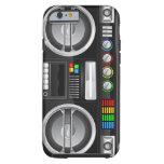 retro rainbow buttons boombox ghetto blaster tough iPhone 6 case