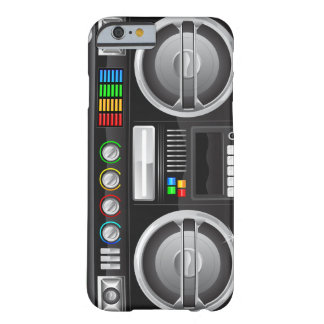 retro rainbow buttons boombox ghetto master barely there iPhone 6 case