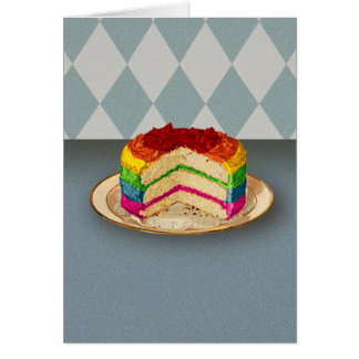 Retro Rainbow Cake Card