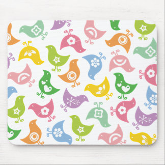 Retro Rainbow Chicks Fun Pattern Custom Mousepad