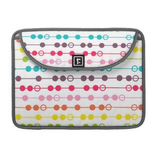 Retro Rainbow Circles Pattern Sleeve For MacBook Pro