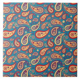 Retro Rainbow Paisley Pattern Tiles