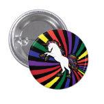 Retro Rainbow Unicorn 3 Cm Round Badge