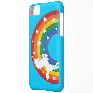 Retro Rainbow Unicorn iPhone 5C Case