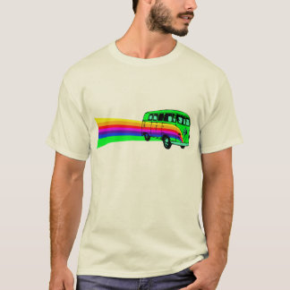 Retro Rainbow Van Design T-Shirt