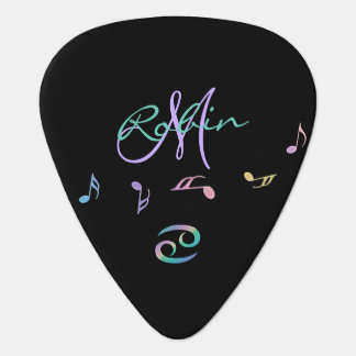 Retro Rainbow Zodiac Sign Cancer Plectrum