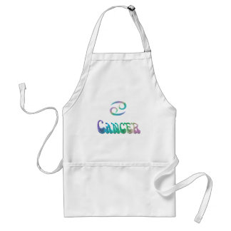 Retro Rainbow Zodiac Sign Cancer Standard Apron