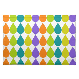 Retro Raindrops3 Place Mats