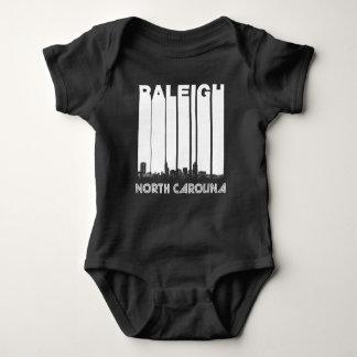 Retro Raleigh North Carolina Skyline Baby Bodysuit