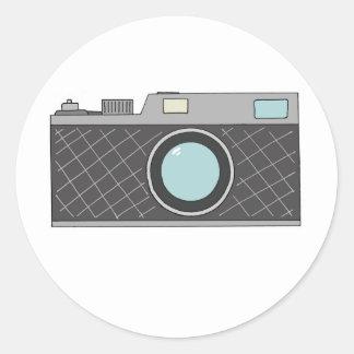 Retro Rangefinder Camera Sticker