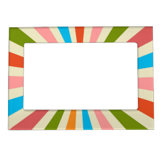 Retro Rays Magnetic Picture Frame