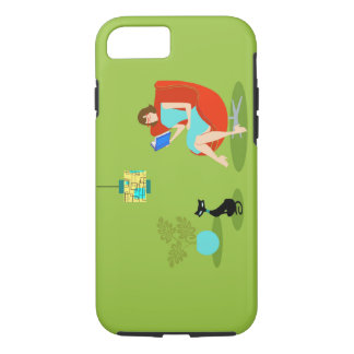 Retro Reading Woman iPhone 7 Case